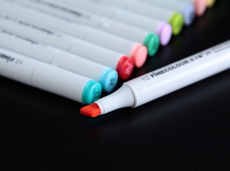 2 세대 finecolour 마커 무료 선물 펜 가방을 선택을 위해 펜 160colors 그림 FINECOLOUR 펜 스케치 손으로 그린 예술 펜