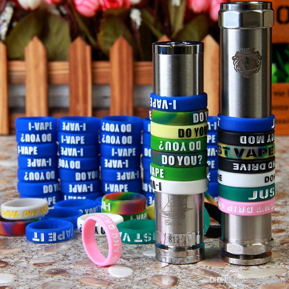 Silicone Vape Bandes Anti Slip Pour Mods Mécaniques Non-Slip Caoutchouc Vape Bande De Vapeur Lueur De Silicone Dans Le Soleil Sombre Anneaux Ego (300pcs + by DHL)