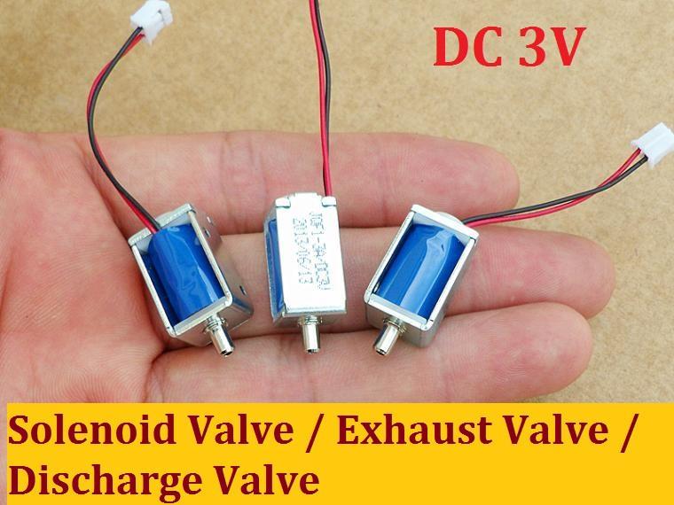 3vdc новый нормальный открытый тип электромагнитный клапан / выпускной клапан / выпускной клапан, низкая цена