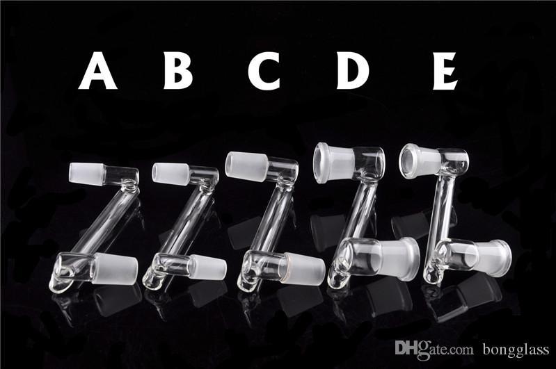 الجملة المنسدلة الزجاج downstem الزجاج المنسدلة dorp الزجاج dab الزجاج أنابيب المياه بونغ 14.4mm أنثى إلى 18.8mm أنثى