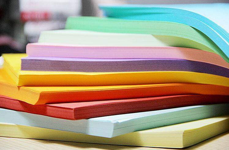 Cores de papel de cópia a4 70 g papel a4 210 * 297mm DIY ofício de papel dobrável mistura cores escolher
