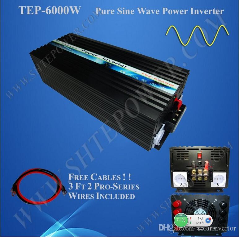 чисто DC 48v волны синуса к AC 100v 110v 120v 220v 230v 240v 6000w с инвертора решетки