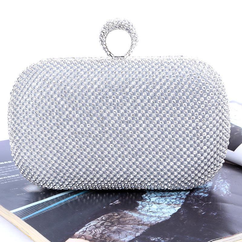 Factory-Direct / Retaill / Wholesale Hochzeit / Bankett / Party / Porm (mehr handgefertigt für Marke Diamond Satin-Tasche / Kupplungsfarben) Neue einzigartige Abend-QJPN