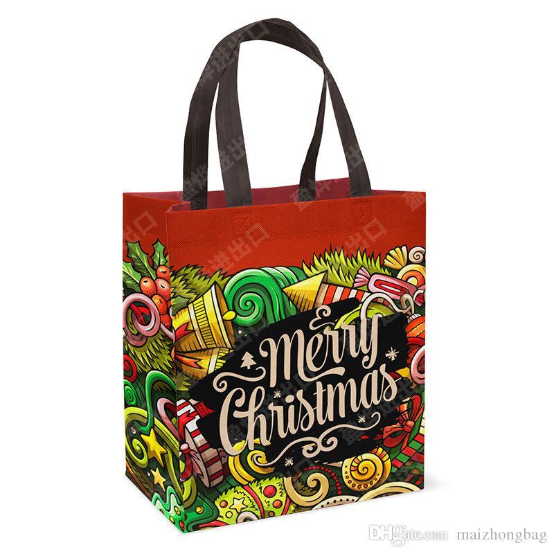 2017 Yeni yıl noel hediye çanta Yaratıcı Sequins Noel Çorap Trompet Hediye Çantası Yılbaşı Ağacı Süslemeleri Plastik alışveriş Şeker Çanta