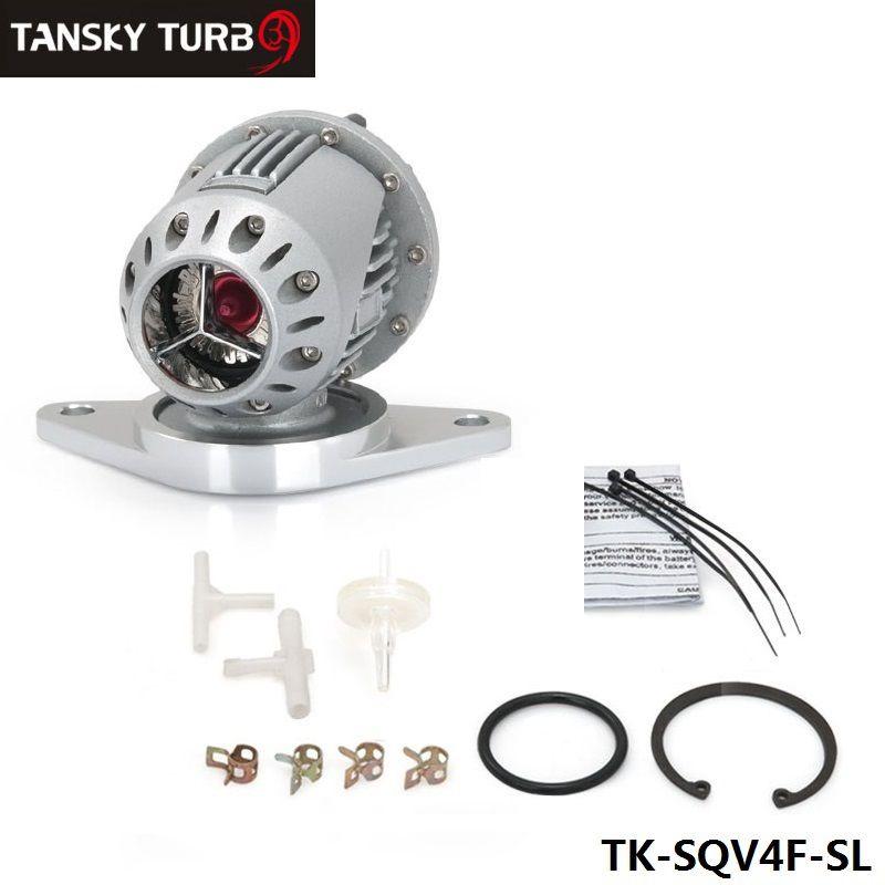 Valve de purge turbo universelle en aluminium argentée de style Turbocharge SSQV SQV4 de style SQVIV avec flang pour Subaru (argent / noir) TK-SQV4F