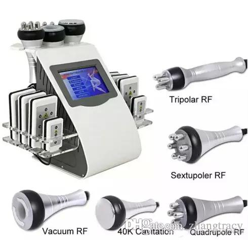 2018 heißer 40k 6in1 laser fettverbrennung abnehmen maschine ultraschall kavitation RF haut lifting fettabsaugung gewichtsverlust körper massage instrument