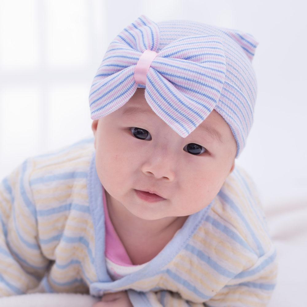 39496326e New hot babies caps with bowknot cute newborn baby hats Elasticity infant  cap kids toddler hat ...