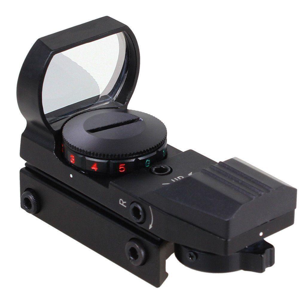Scope olografico da 11mm o 20mm Picatinny Weaver Rail 4 Tipo Reticle Red Green Sight Scope