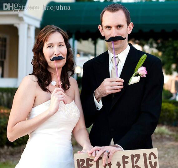 Decorazioni per matrimoni All'ingrosso-matrimonio Photo Set di 33PCS Nuovi rifornimenti per catglass Maschera Mustache per divertimento Favori photobooth photocall