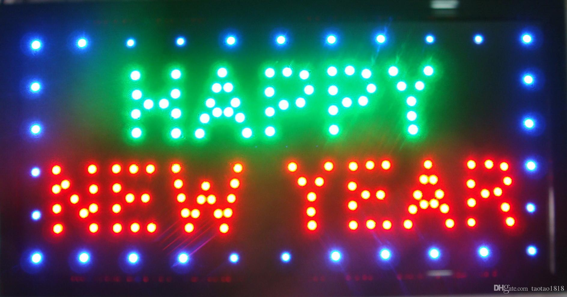 Hot sale Customize Imput signs led neon happy new year sign Customize Imput board indoor size 10*19 inch