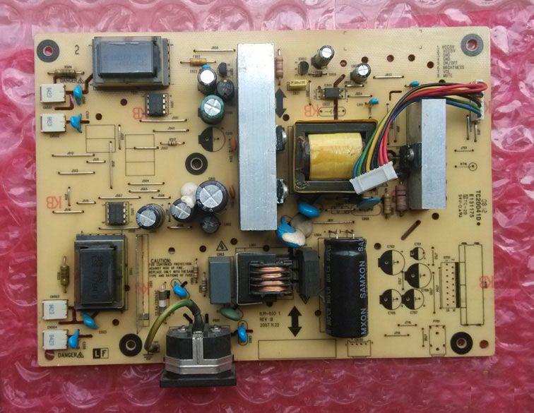 Ücretsiz Kargo Orijinal LCD Monitör Güç Kaynağı PCB Kurulu Ünitesi ViewSonic VX2240W VA2220W VA2216W Için ILPI-033