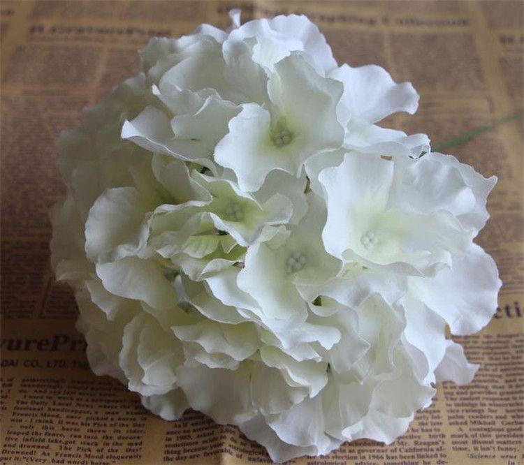 """ホットシルクアジサイフラワーディア。 16cm / 6.3 """"100ピースの造花水素アジサイのための水白アジサイのための16cmの花アジサイ"""
