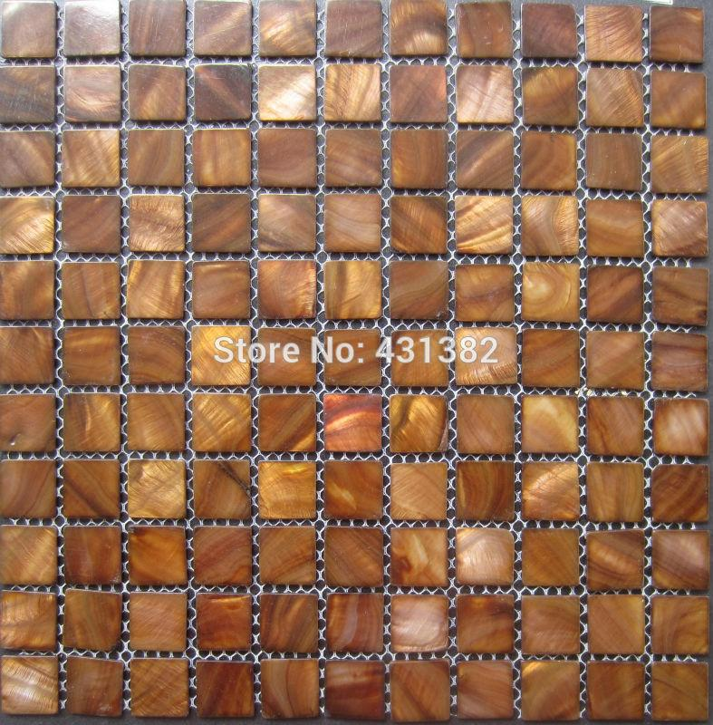 Mosaic wall tiles gold kitchen tile backsplash mother of pearl tiles; shell mosaics bathroom wall flooring pearl tile