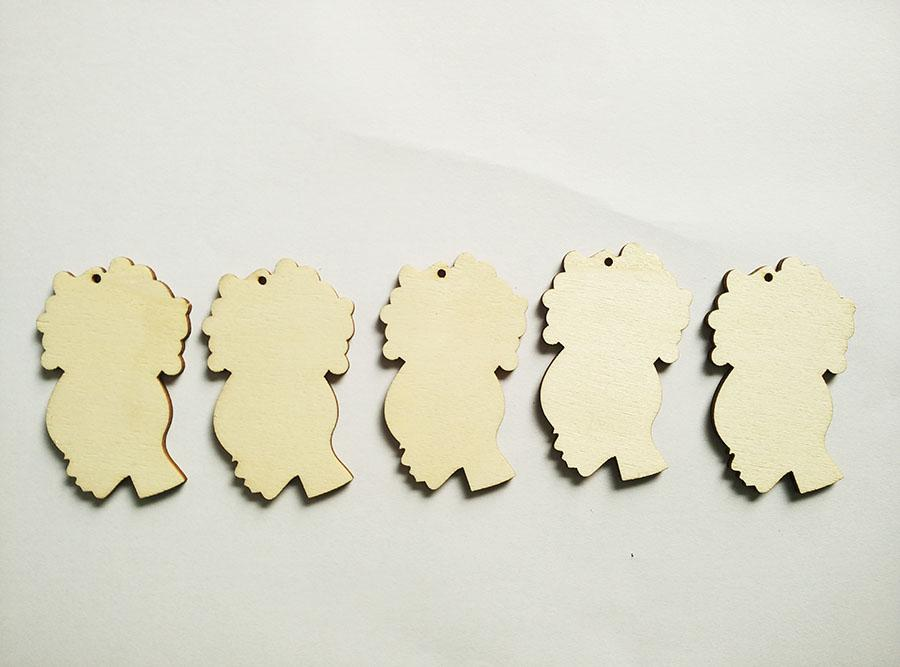 Natural Hair Afro Puff Silhouette Unfinished Wood Cutout, Laser Cut Earring ,Afro girl natural hair wooden earring WR-01