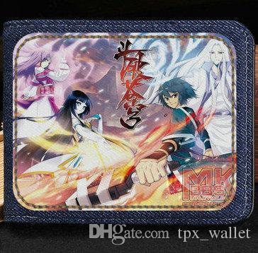 Fights break sphere wallet New cartoon purse Anime short cash note case Money notecase Leather burse bag Card holders