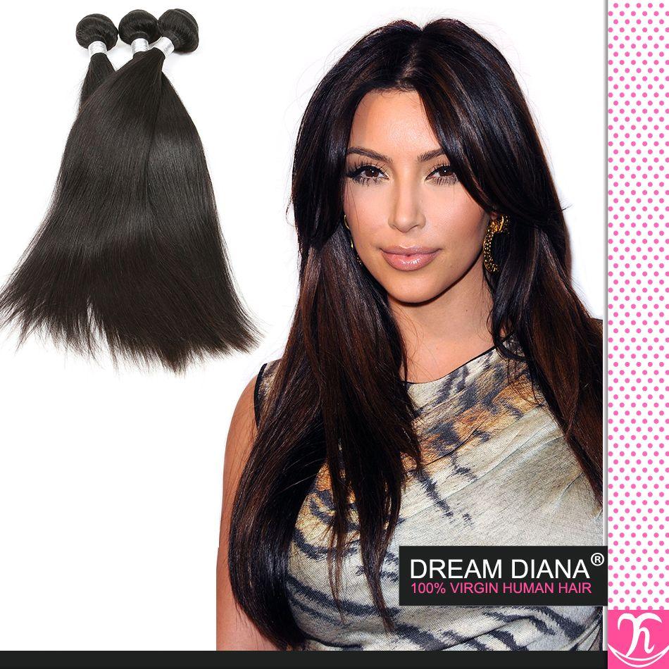 Роскошные бразильские прямые волосы плетет необработанные девственные человеческие волосы расширения Dyeable не линять 4 пучки много бразильских волос ткать