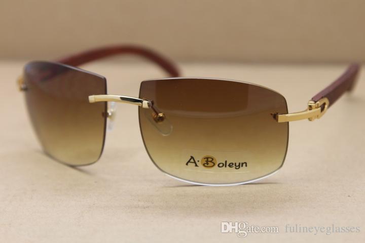 4189705 개 안경을 프레임 크기를 운전 2020 핫 남성 큰 장식 나무 프레임 유명한 선글라스 핫 골드 나무 안경 야외 : 62-18-135mm