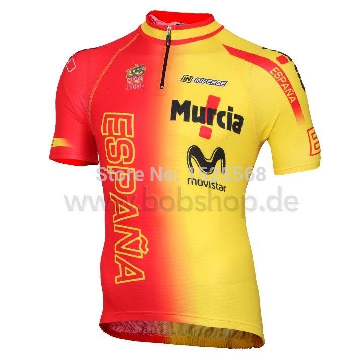 도매 - 스페인 전국 팀 2015 짧은 소매 사이클링 저지 2015 및 사이클링 턱받이 반바지 세트 스페인 ropa ciclismo 의류 전체 지퍼
