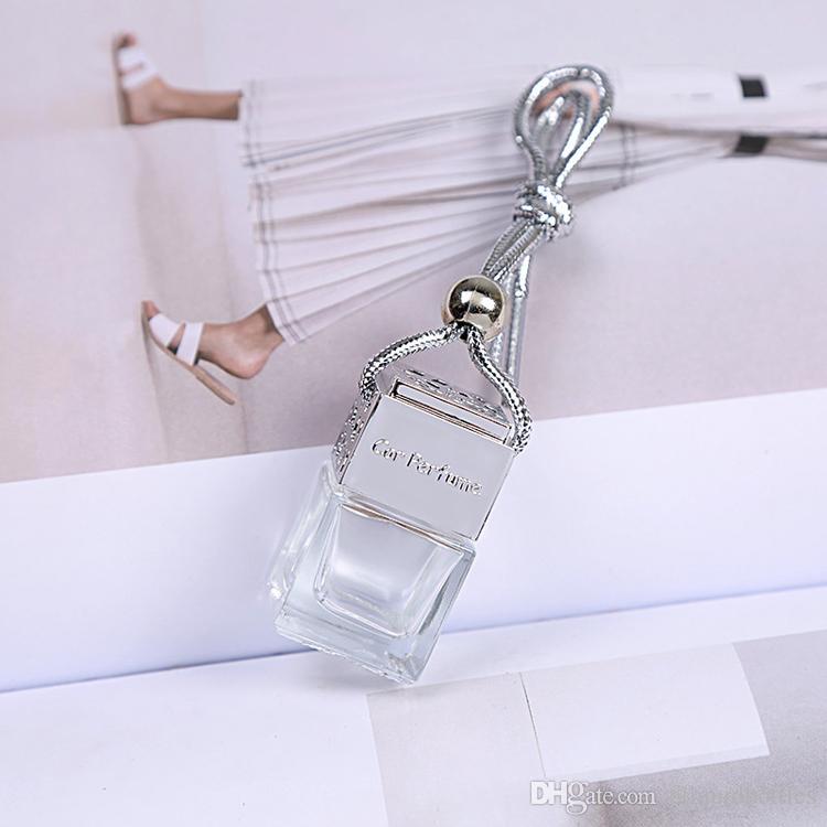 Großhandel Einzelhandel Nizza Entwurfs-Quadrat-Auto-Diffuser Flaschen 50Pcs Auto-Duftstoff-Flaschenglas-Diffusor-Auto-Dekoration Freier DHL