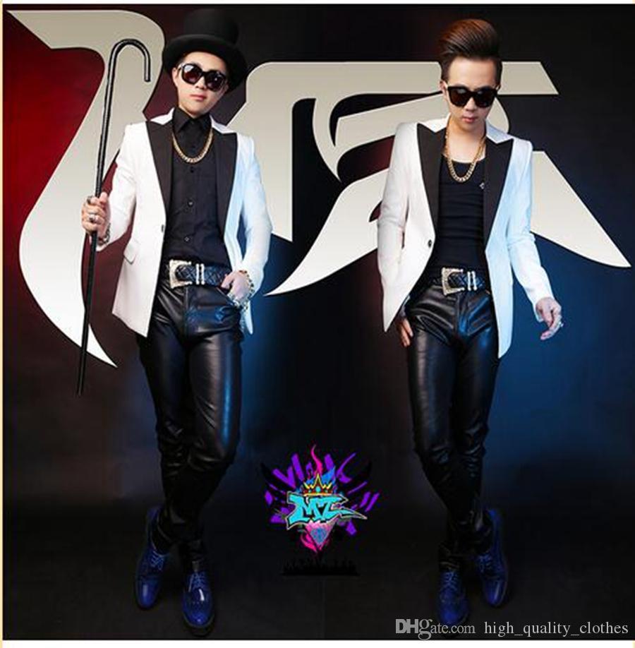 남자 가수 한국 버전 활주로에서 나이트 클럽은 하나의 도덕성을 키우는 검은 색 검은 색 복장을 본다 S - 6xl