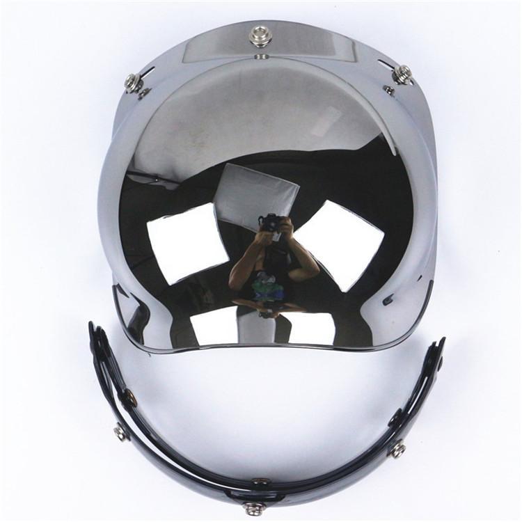 motocicleta Retro 3-snap Sun Visor Shield Lente de casco a prueba de viento de color Visera de casco