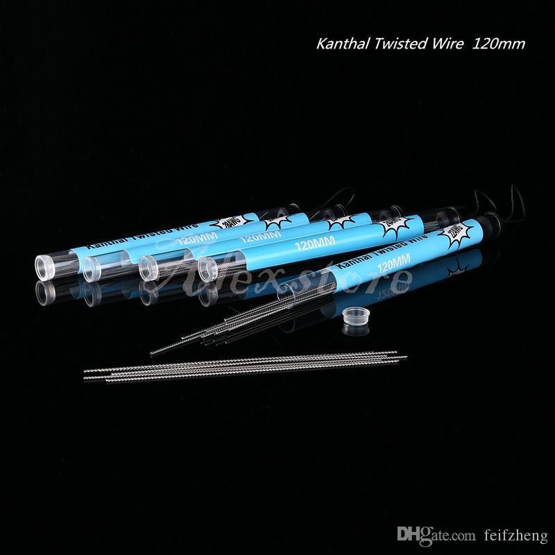 Twist Wire Heizwiderstand Spule 120mm Twisted Drähte Doppelspulen 22g 24g 26g 28g 30g Spurweite 20 Stück in einem Rohr DHL