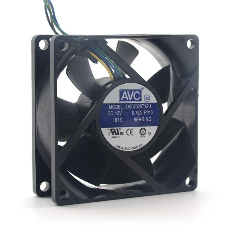AVC DS07025T12U 70mm 7025 DC 12V 0.7A 4 -pin PWM cpu pc case cooling fan