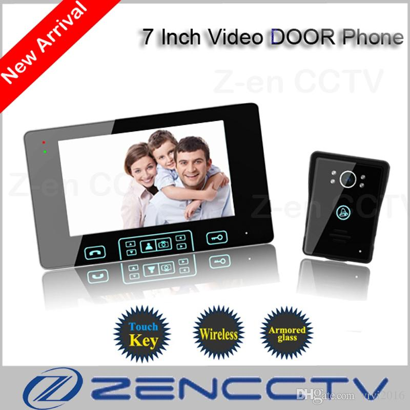 High Quality 7 Inch TFT Monitor LCD Color Wireless Video Door Phone Doorbell Home Security Door Intercom With Night Vision Function