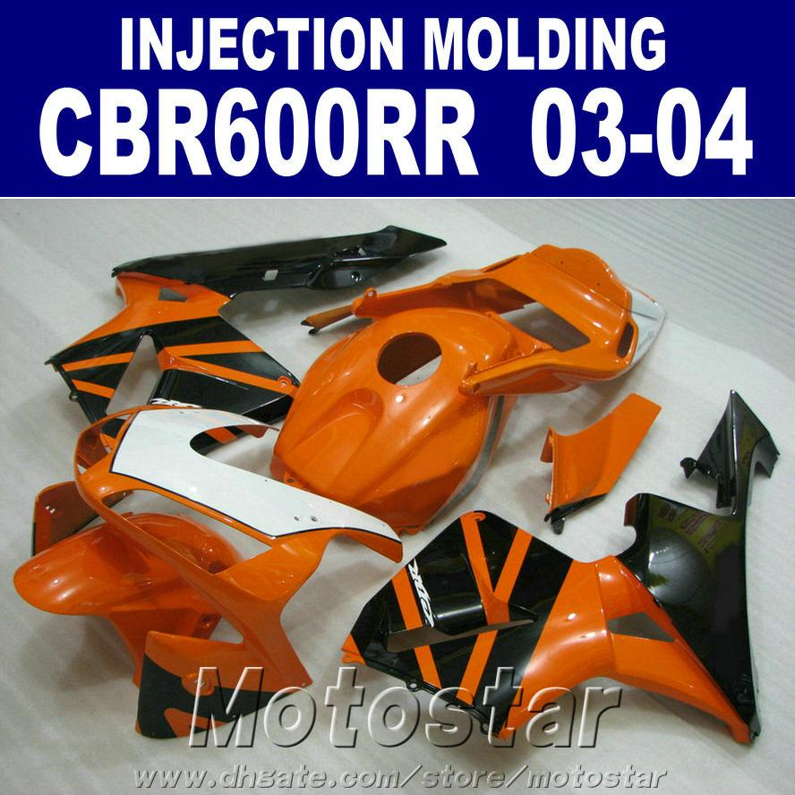 CBR 600RR 2003 2004 HONDA kaporta 03 Portakal Enjeksiyon kaportaları 03 04 CBR600RR ABS plastik kaporta parçaları KCE0