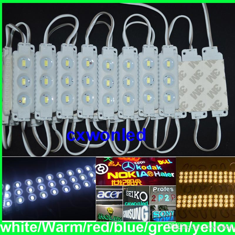 5730 injection ABS led module 3leds 40-45lm each advertisement light 160degree,pure White 12V IP65 Anti-fire led module 100pcs+CE RoHS UL