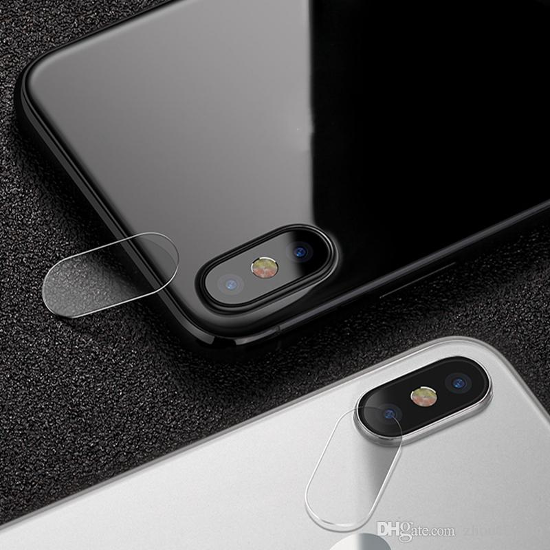 big sale 8ed0c 0489f Clear HD 0.2mm Ultra Thin Camera Cover Lens Protector For IPhone X 8 8 Plus  7 7 Plus Tempered Glass Flim Anti Scratch Tempered Glass Protector Phone ...