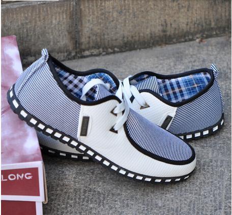 Yeni İngiliz Tarzı erkek flats Moda Çizgili Nefes Dantel-Up Rahat Zapato erkek Sneakers casual erkek Ayakkabı Ücretsiz Shipping38-46