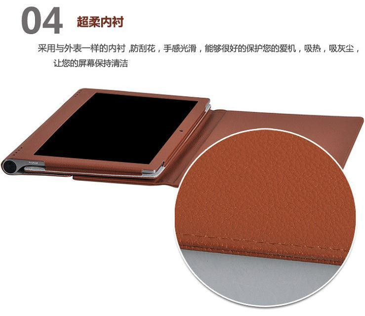 sports shoes 8cbad c043c For Lenovo Yoga 2 Pro 13.3 Tablet PC Customized Good Quality PU Leather  Protective Case Back Stand Cover Brown Color DHL Buy Tablet Cases 10 Inch  ...