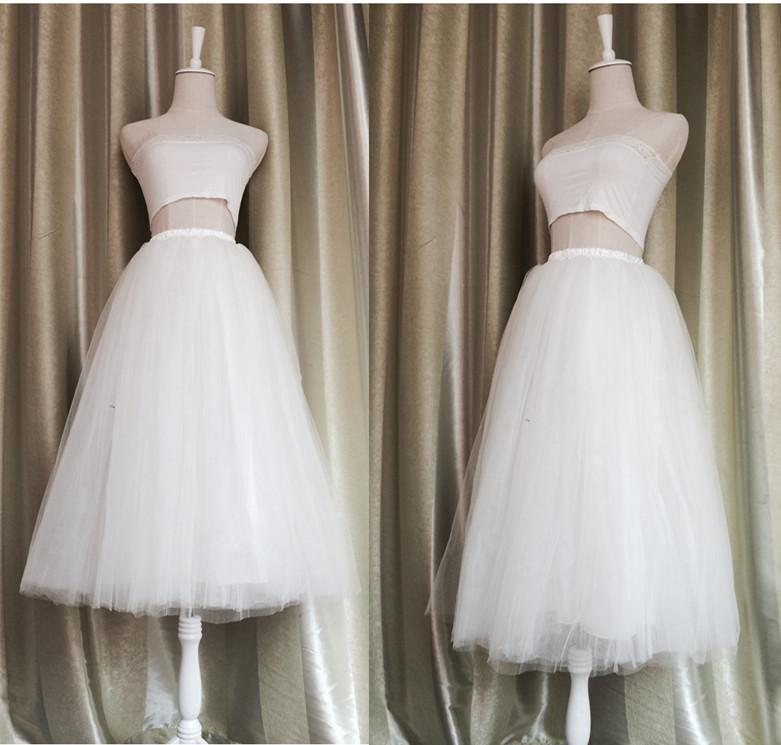 3f54984bc Fashion White Adult Tulle Skirt Womens 75cm Long Maxi Tutu Skirt Wedding  Bridesmaid Party Ballerina Skirt Customized All Colors