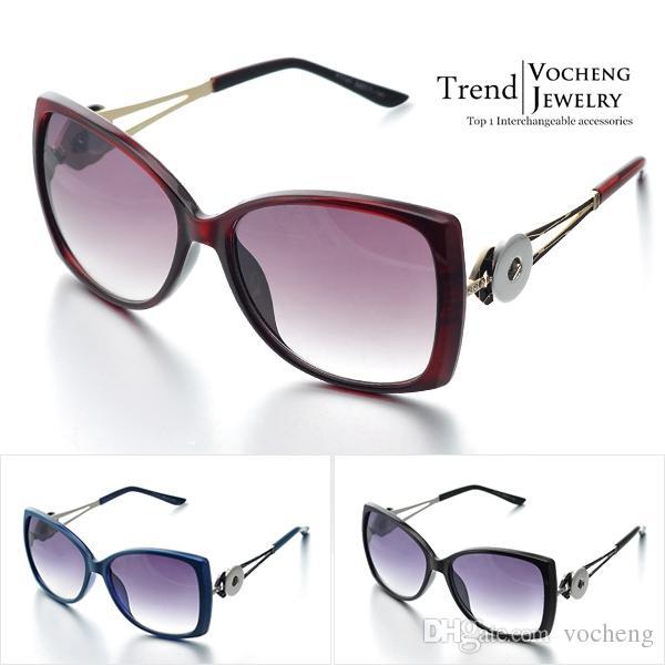 Vocheng Noosa 2015 Moda bağbozumu gözlük Değiştirilebilir Yapış Düğmeler Kakma Kadın Güneş Gözlüğü (NN-070)