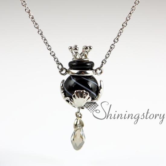 ball diffuser necklaces wholesale venetian glass small perfume bottle pendant necklace diffusers essential oil necklace wholesale