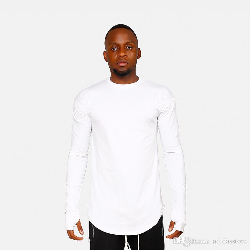Fundação de cor pura dos homens originais estilo de rua de Europa T-shirt de manga comprida t-shirt bottoming cabeça solta