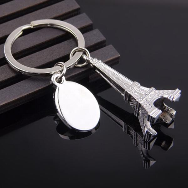 انخفاض الشحن جديد حار بيع باريس برج ايفل المفاتيح عناصر الجدة أداة مبتكرة حلية تذكارية هدية عيد مفتاح سلسلة