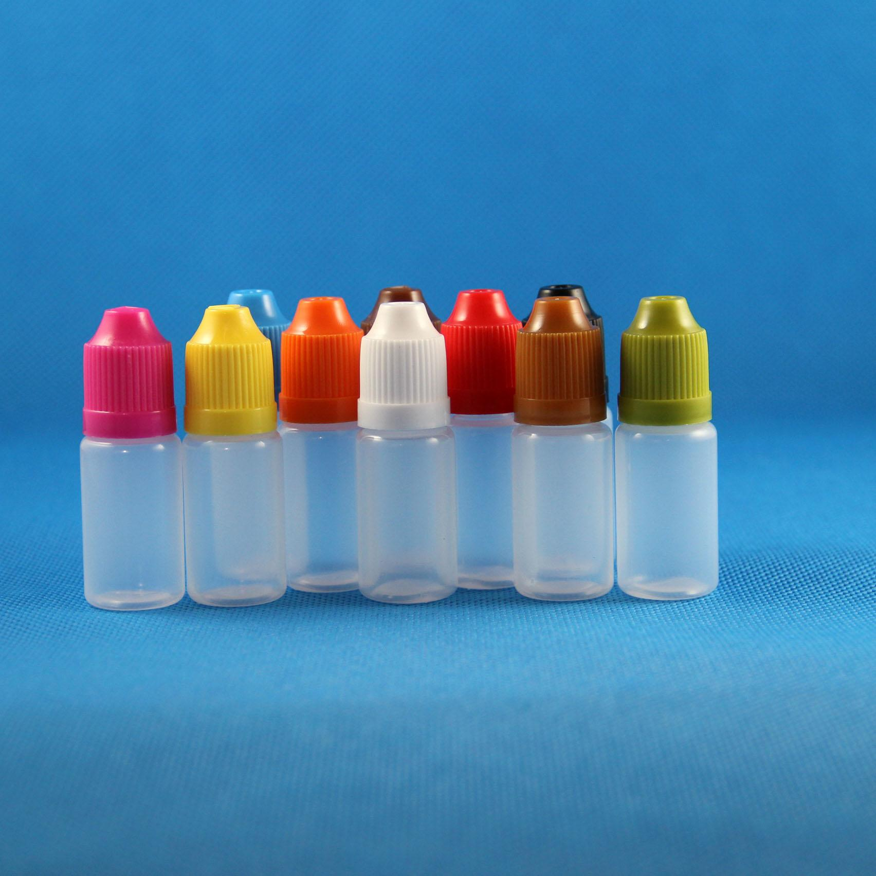 100 Sets 8 ml (1/4 oz) Plastic DROPPER Flessen Kindveilige Caps Tips PE LDPE E VAPOR CIG LIQUE 8 ML