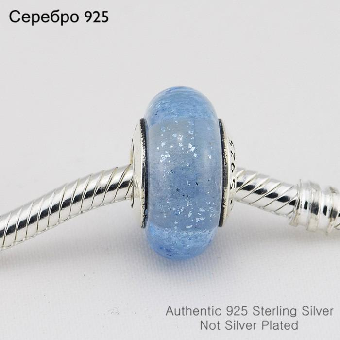 Pandora Charms Bilezik uyar 925 Gümüş Sindirella ile Mavi Murano Cam Boncuk Gümüş Charm DIY Takı Ücretsiz Kargo