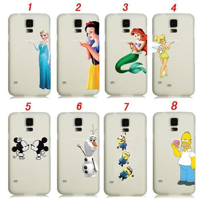 Pour Samsung Galaxy S4 S5 S6 Blanche Neige Sirène Ariel Clochette Elsa Despicable Me Minion Mignon Transparent Housse PC Proposé Par Powerfactory, ...