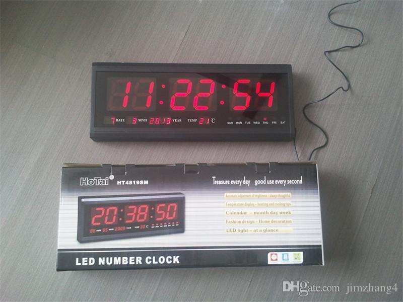 large digital led wall clock big watch modern design