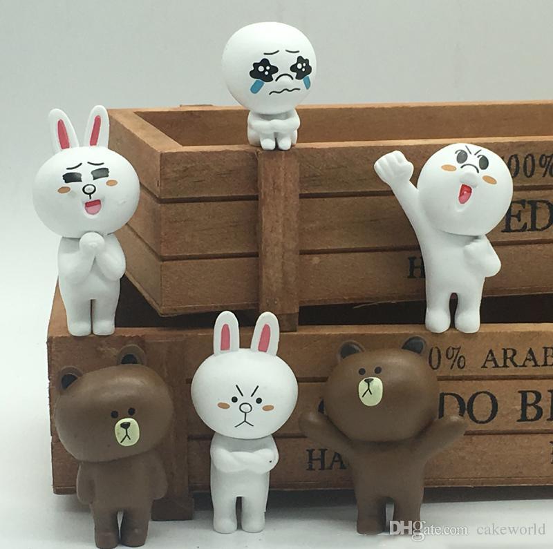 30pcs (5 set) bambola di espressione Figurine in miniatura orso bruno fairy garden ornaments bonsai decoracion jardin dollhouse auto giocattoli