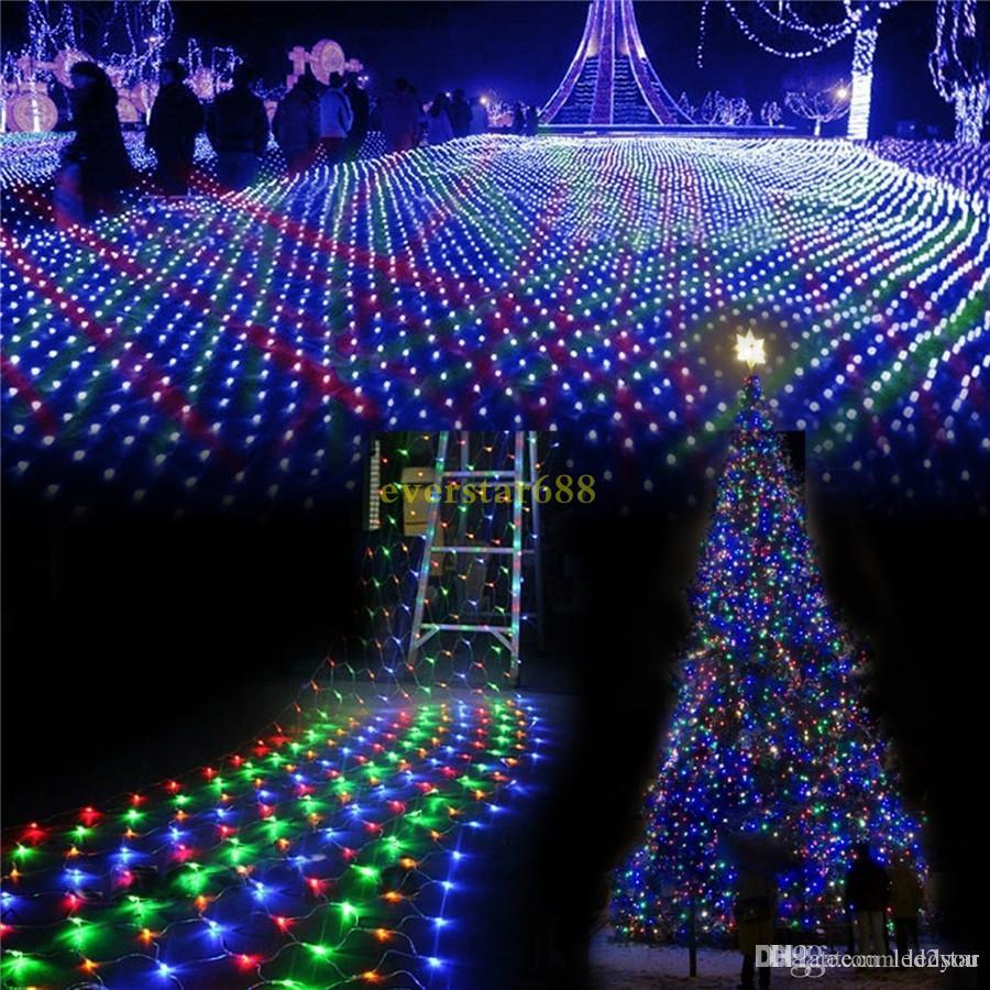 LED Christmas Wedding party lights outdoor waterproof Net String Lights 2m*3m 4m*6m garland wedding decoration fairy Lights