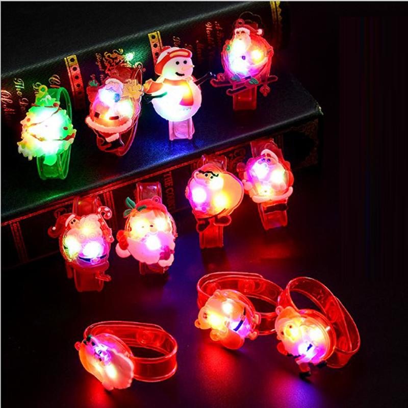Free Shipping 100pcs Hot Cute Cartoon LED Watch Toy Boys Girls Flash Wrist Band Party Christmas Decoration Glow Luminous Bracelet