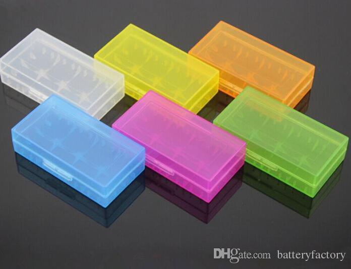 Tragbare Trage Box 18650 Batterie Fall Lagerung Acryl Box Bunte Kunststoff Sicherheit Box für 18650 Batterie und 16340 Batterie (6 Farbe)
