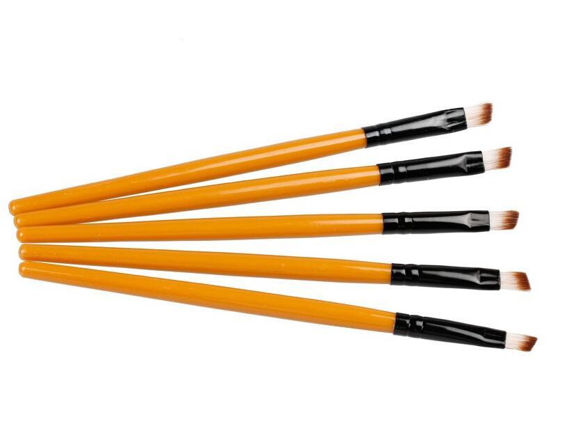 프로 좋은 품질 엘리트 각도 눈썹 브러시 눈썹 도구 색상 검정 또는 갈색 손잡이 여성을위한 무작위 배달 아름다움