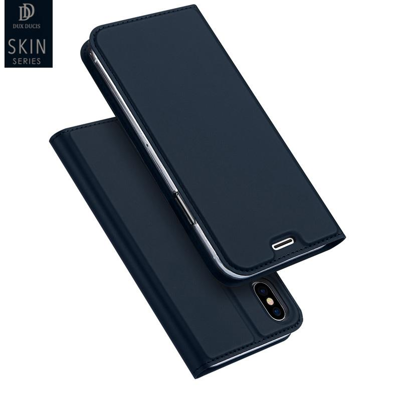 아이폰 X 플립 커버에 대 한 Dux 가죽 케이스 아이폰 8 8 플러스 6 6s 7 플러스 전체 보호 커버에 대 한 아이폰 8 지갑 전화 케이스