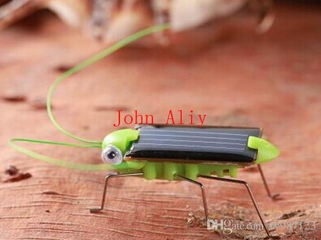 Wholesale Popular Solar Power Toy Energy Crazy Grasshopper Cricket Kit christmas gift Toy Great toy or kids Creative toy Free Shipping