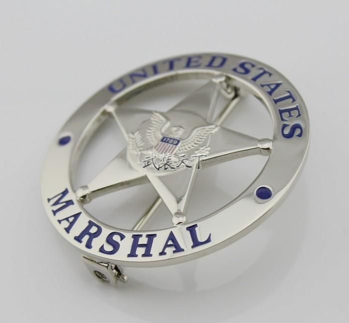 2019 The Metal Badge Badge US MARSHAL US Federal Court Law Enforcement  Badges Silver Surface From Hkanjie, &Price